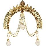 I Jewels Gold Plated Traditional Maharastrian Jewellery Aambada Juda/Pin Hair Brooch for Women (SM44W)