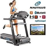 Nautilus SoftDrop Klappsystem mit Transportrollen Laufband T626 20km/h Spitzengeschwindigkeit RunSocial App kompatibel über Bluetooth für Smartphone und Tablet