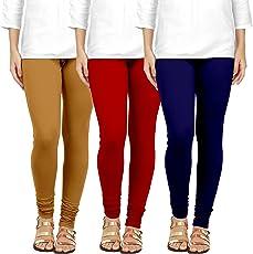 Ancientstar Chudidar Cotton Leggings for Womens/Girls/Ladies (Pack of 2) Sizes-l/xl/xxl/3xl/4xl/5xl/6xl