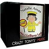 No.1 Lollipop Lady Mug Personalised Mug Thank You Lollipop Lady Gift, Design 1
