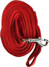 Mera Puppy High Quality Dog Leash 20 Feet Long, for Medium to Big Dogs (Red)