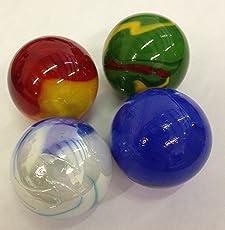 """Mega Marbles SET OF 4 ASSORTED BULK - 1 3/8"""" BOULDER MARBLES"""