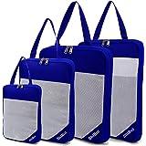 SHIBUI Compression Packing Cubes Set, Expandable Packing Organizers - 4 Pcs (Royal Blue)