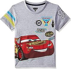 Cars Boys' Plain Regular Fit T-Shirt