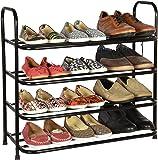 Benesta Multi-Purpose Steel Shoe Rack - (4 Tier, Black)