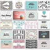 Friendly Fox Geburtstagskarten Set - 20 Glückwunschkarten zum Geburtstag - Happy Birthday Set mit 20 Grußkarten Postkarten fü