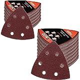 Amazon Brand - Umi 120 tlg. Schleifblatt Set, Dreieckschleifer Schleifpapier 93 x 93 x 93 mm, Körnung 40/60/80/120/180, für