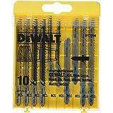DEWALT DT2294-QZ 10 decoupeerzaagbladen met 5 hout en 5 voor metaal DT2165 x 2, DT2050 x 2, DT2163 x 2, DT2177 x 2, DT2160 x