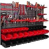 ITBNN600x4-U1121-MIX36, 115 x 78 cm rek kleine onderdelen gereedschap organizer wandrek opbergdozen stapelboxen werkplaats ga