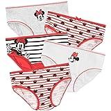 Disney Ropa interior para niñas de Minnie Mouse [Bragas] [Paquete de 5] [2-3 Años] [Rojo]