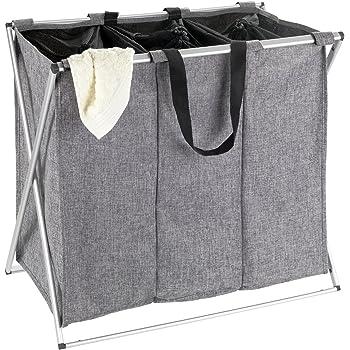Rattan Wäschesortierer , Wäschekorb 3 Fächer Einteilung
