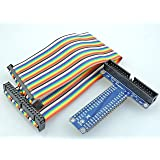 Sintron] 40 Pin GPIO Extension Board with 40 Pin Rainbow Color Ribbon Cable for for Raspberry Pi 1 Models A+ and B+, Pi 2 Model B, Pi 3 Model B and Pi Zero