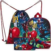 Marvel Spiderman Rucksack Kinder Set 3-teilig mit Kindergartenrucksack Jungen, Turnbeutel Kinder, Federtasche Junge