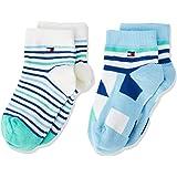 Tommy Hilfiger Unisex Baby Socken Th Baby Boy Squares Sock 2p