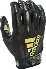adidas AF1006 Adizero 7.0 Snoop Money Bag Receiver's Gloves, Black, Medium