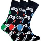 Calcetines de videojuegos de novedad funky para juegos retro para hombre 6-11 | 3 pares | Calcetín Snob