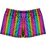 BFD One Pair of Mens Shiny Metallic Holographic Hotpants in Rainbow, Silver Or Gold One Size Fits 32-36 Wash On A Cool Cycle