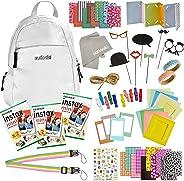 100 Piece Instax Mini 9 Camera Accessories - Travel Kit Bundle - Backpack Shoulder Bag, 60 Sheets Instant Film, Lens Cleanin