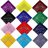 Bandane Cappelli, Bandana per Capelli con Paisley Pattern Headwear, Collo, Testa, Sciarpa Fazzoletti da Taschino, Disegno Pai