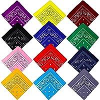 Bandane Cappelli, Bandana per Capelli con Paisley Pattern Headwear, Collo, Testa, Sciarpa Fazzoletti da Taschino…