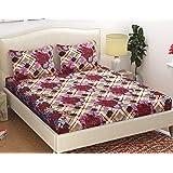 Fabture Microfibre Glace Cotton 152 TC Bedsheet (Standard_Multicolour)