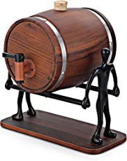 I Steel Wooden Decanter With Stand