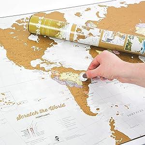 Rubbel Weltkarte Deluxe Scratch Off World Map