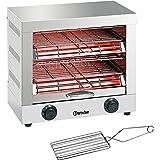 Bartscher A151600 Quartz Tube grille-pain, double, argent, 230V, 3kw, 400mm x 370mm x 405mm