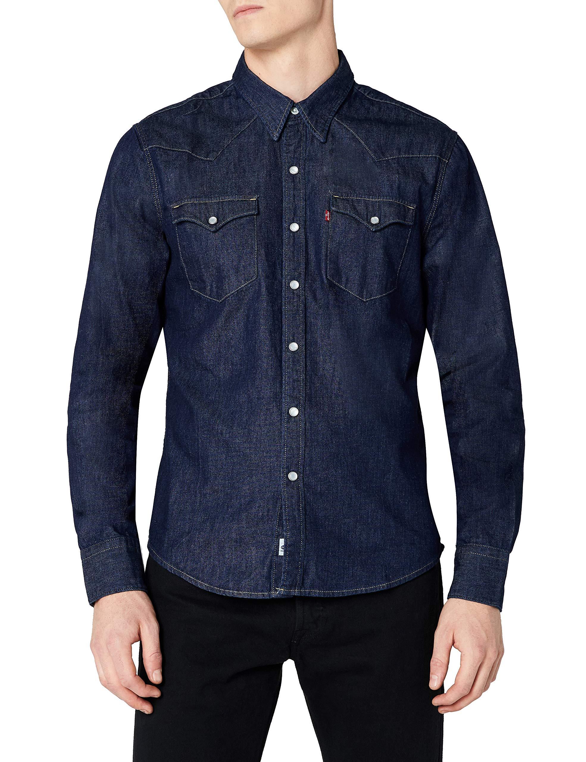 Levi's L/S Barstow Western Shirt, Camisa Casual de Manga Larga Para Hombre