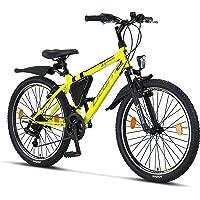 Licorne Bike Guide Premium Mountainbike in 20 24 26 Zoll Fahrrad für Mädchen Jungen Herren und Damen - 21 Gang Schaltung…