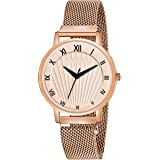 ON TIME OCTUS Analogue Women's Watch (White Dial Black Colored Strap)