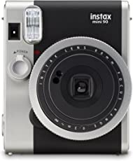 Fujifilm Instax Mini 90 Film Camera Designed With a Classic Look Instant Camera ( Available in Black & Brown Color) (Black)