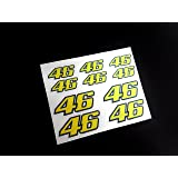 Pegatinas DORSALES 46 Rossi ECO17 Stickers AUFKLEBER ADESIVI The Doctor