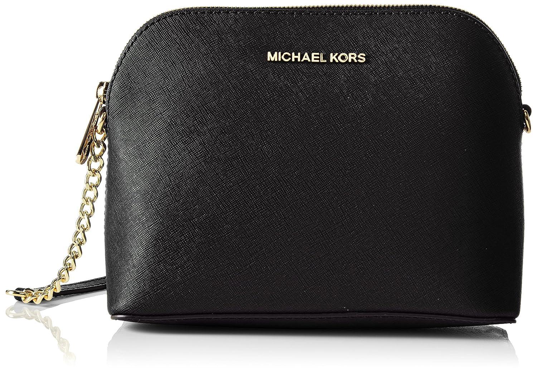 Michael Kors Women\u0027s Cindy Black Dome Crossbody Bag Cross-Body Bag Black  (Nero): Amazon.co.uk: Shoes \u0026 Bags