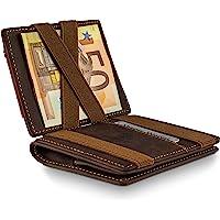 WEST - Magic Wallet (Braun) - Der Klassiker (großes Münzfach) - inklusive Edler Geschenkbox - Geldbeutel mit Münzfach…