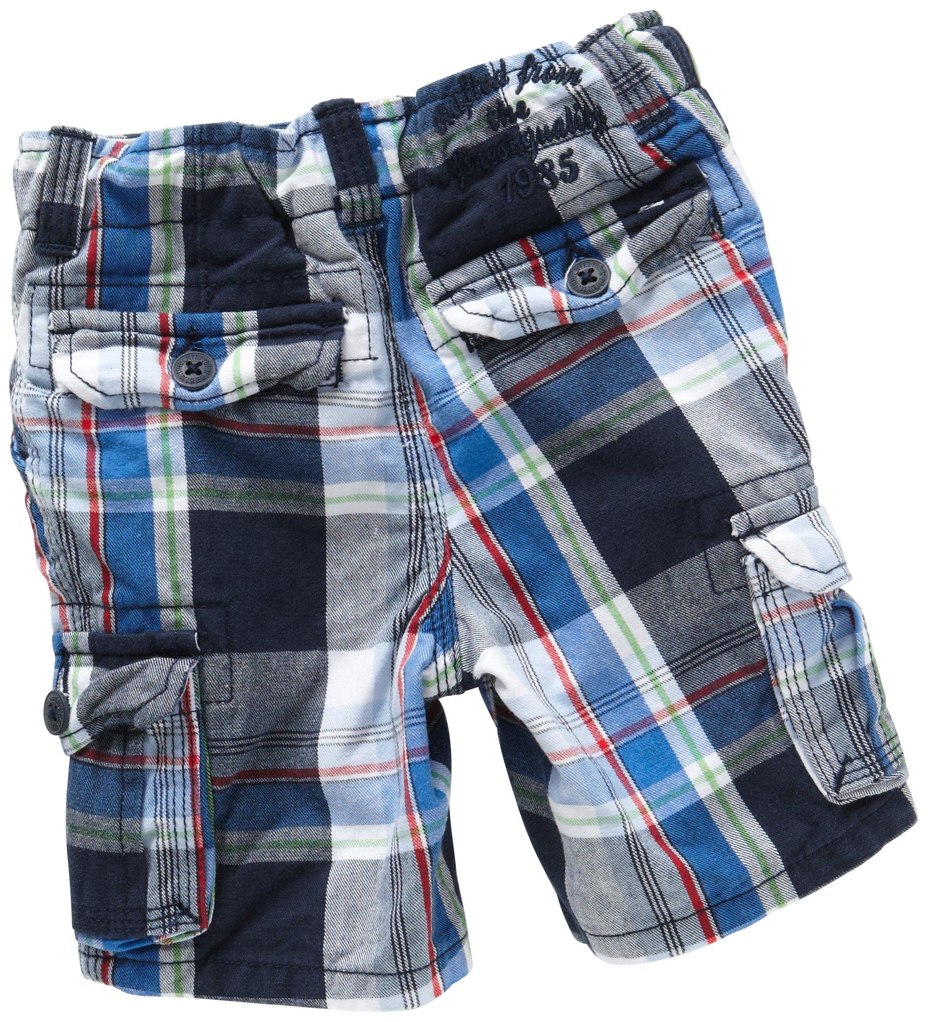 Tommy Hilfiger Baby–Joven bebé Ropa/Pantalones, Cuadriculado Ridge Check Mini Cargo Short bj50618973
