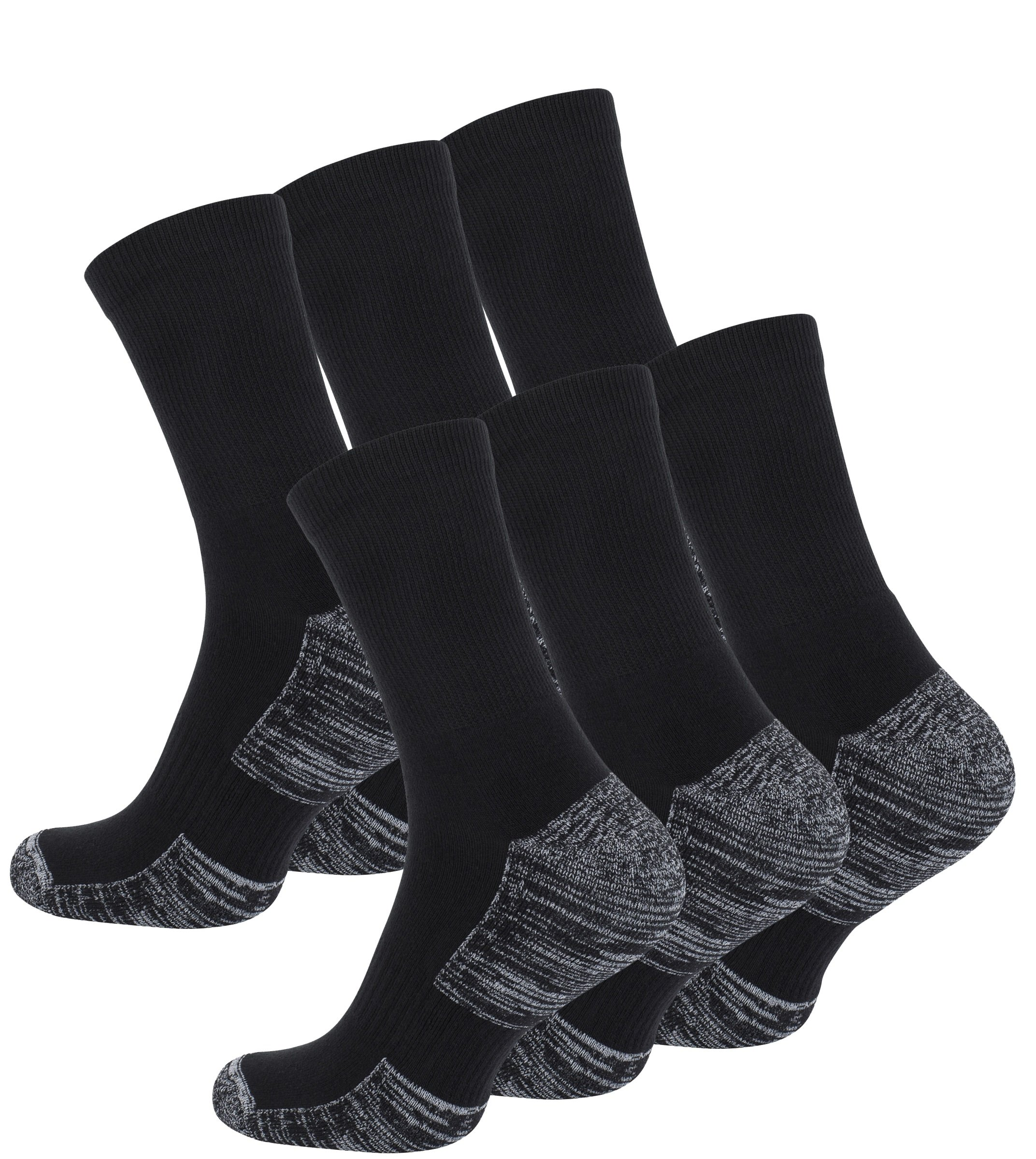 91G3kVHU3QL - 6 Pairs of Hiking & Trekking Socks, Outdoor Socks, with Terry Sole, UNISEX