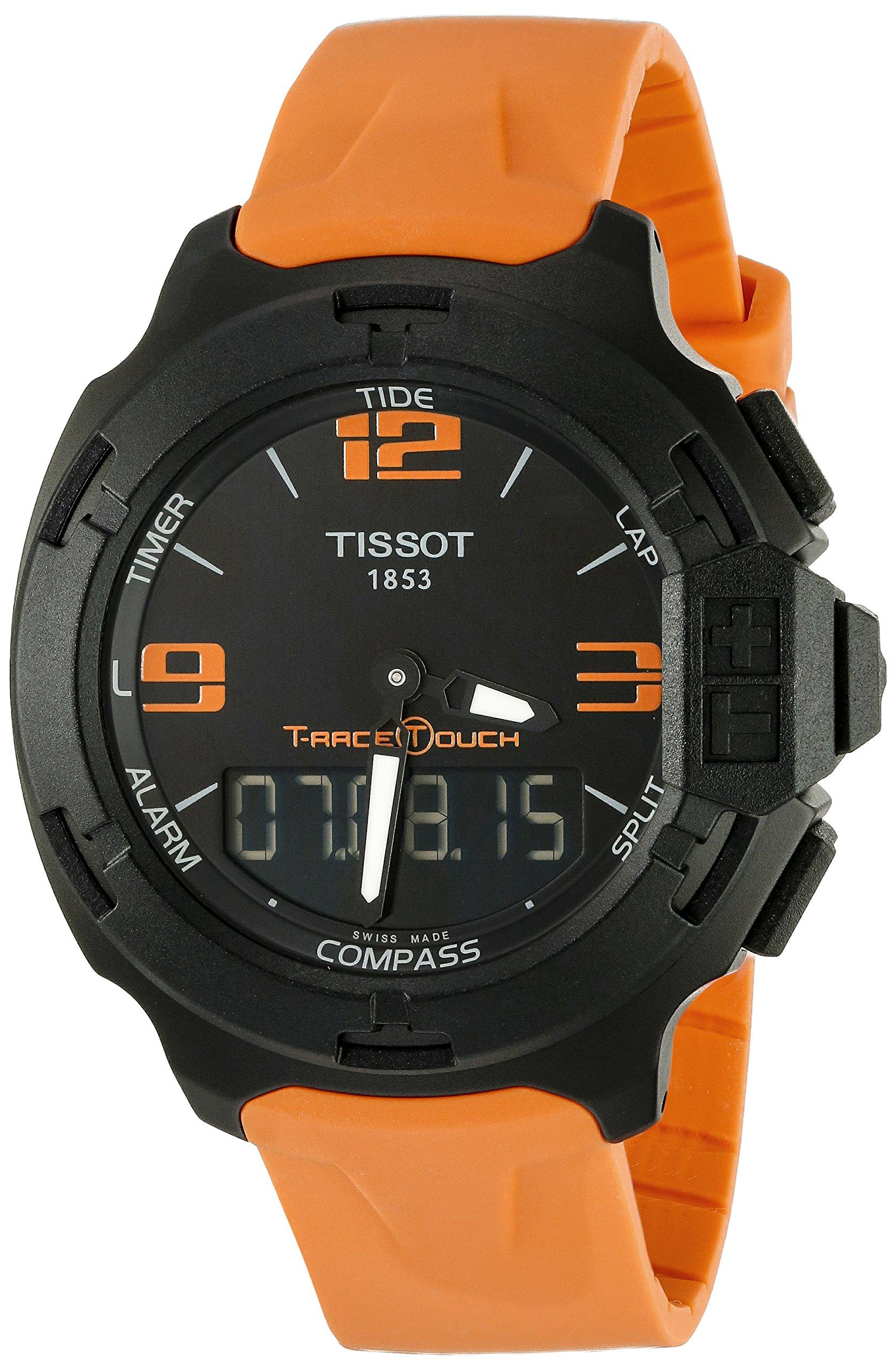 Tissot T0814209705702 – Reloj de pulsera hombre, Caucho, color Naranja