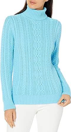 Amazon Essentials Fisherman Cable Turtleneck Sweater Donna