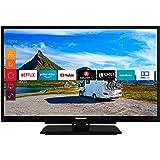 Telefunken XF22G501V 55 cm (22 tum) TV (Full HD, trippelmottagare, Smart TV, Prime Video, 12 V, Works with Alexa)