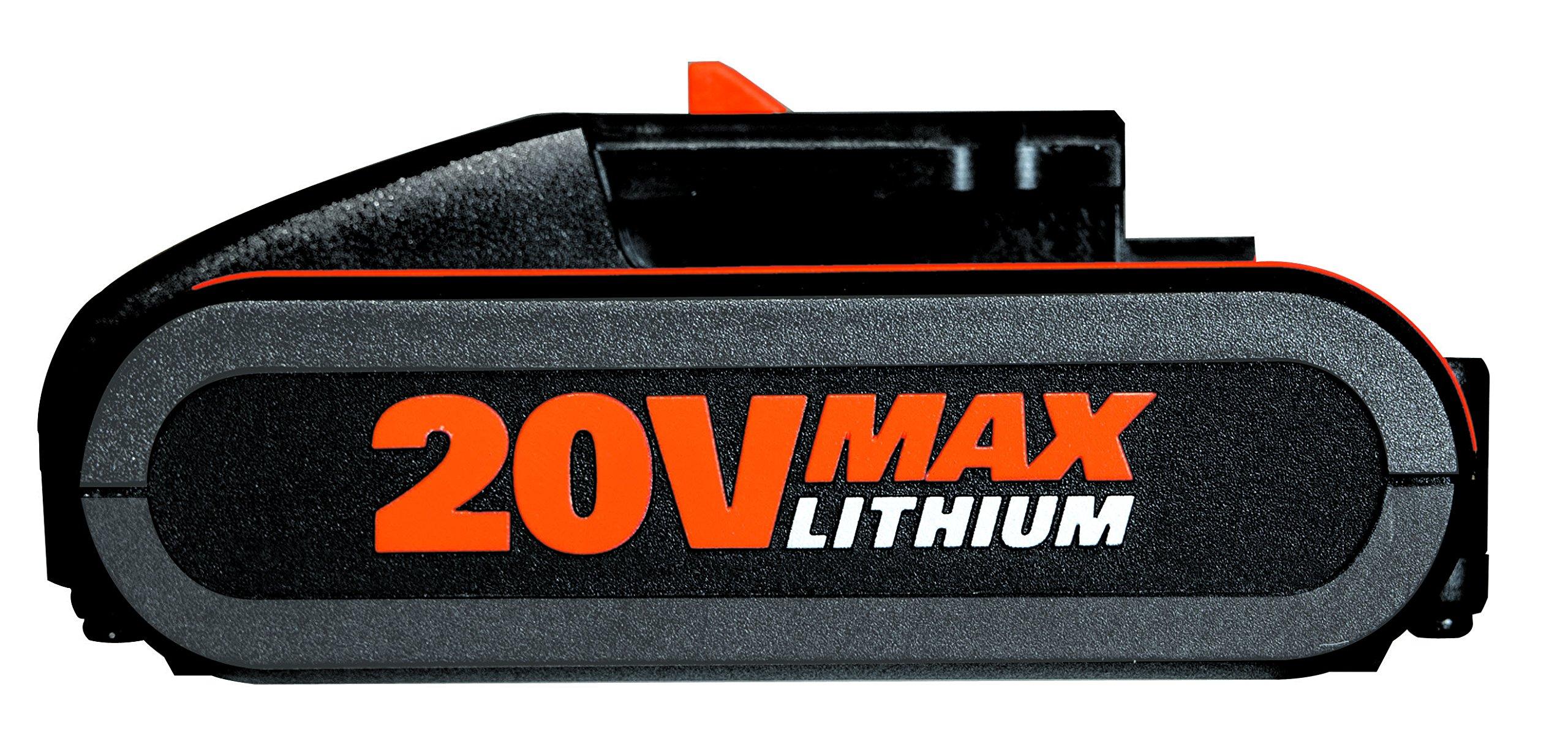 Worx WA3572 Akku 20V, 2,5Ah, für alle Worx Geräte – 2500mAh Li-Ion Akku PowerShare