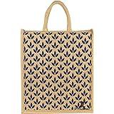 Dussle Dorf Full Handles Best Gift for Diwali Festival | Jute Bags with Zip | Jute Tote Bag | Jute Tiffin Bags | Printed Jute