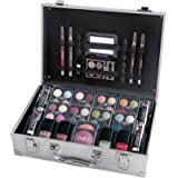 ZMILE Vanity Case Beauty Cosmetic Set Gift Travel Make Up Box Train Storage 51 Piece