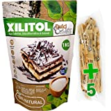 DULCILIGHT Xilitol Edulcorante 100% Natural 1 Kg Origen Abedul de Finlandia + (5 sobres de prueba Nuevo DULCILIGHT Edulcorant