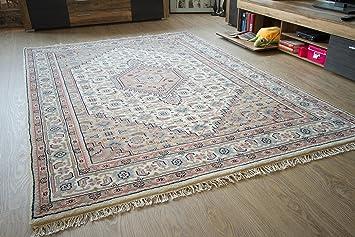 Orientteppich  Bidjar Orientteppich beige - 100% Schurwolle - handgeknüpfter ...
