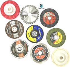 """Tools-4-All 4"""" Combo of 9 Pieces :- Grinding wheels/Discs Suitable for Cutting Wood/Metal/Brick/Marble, Grinding, Polishing and Buffing."""