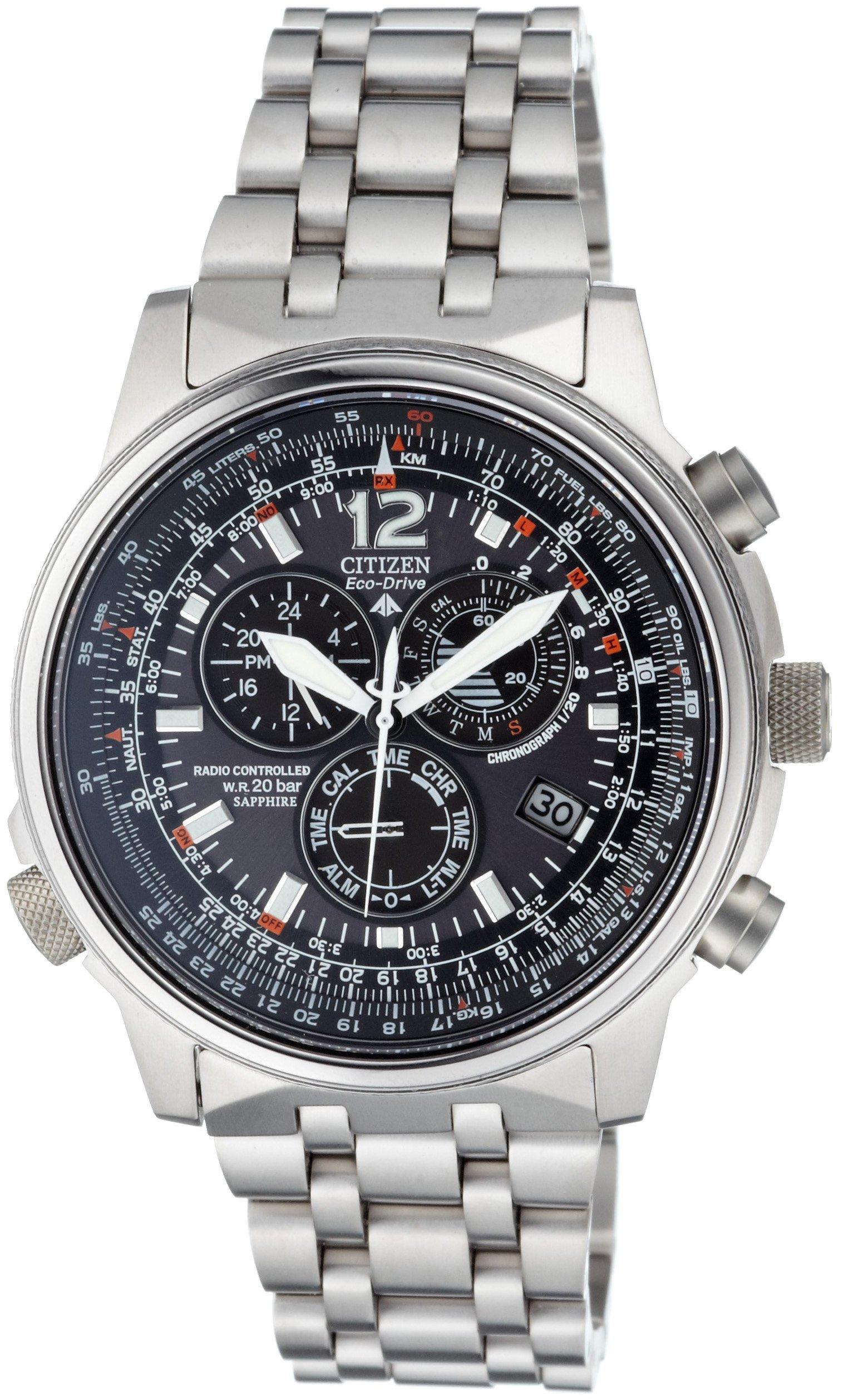 Citizen AS4050-51E - Reloj cronógrafo Ecodrive para hombre, correa de titanio color plateado 2