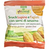 Probios Snack Lupino e Fagioli, con Semi di Sesamo - 35 gr, Senza glutine