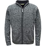 FASHION REVIEW Gimbles® New Men's Fleece Fur Lined Knitted Cardigan Sweater Zip Up Warm Coats Jacket Top