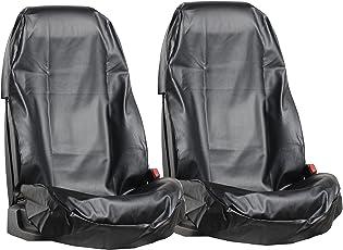L&P Car Design GmbH 2 Stück Sitzschoner Werkstattschoner Sitzbezug aus Robustem Kunstleder in Schwarz aus Eco Leder Schonbezug Wasserdicht Pflegeleicht Robust Langlebig PU in Schwarz